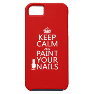 Keep Calm and Paint Your Nails (all colors) iPhone SE/5/5s Case