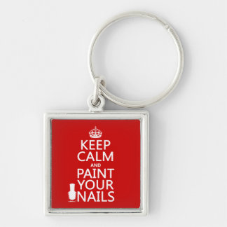 Keep Calm and Paint Your Nails (all colors) Keychain
