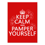 Keep Calm and Pamper Yourself (any color) Personalized Invites