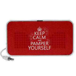 Keep Calm and Pamper Yourself (any color) Travel Speaker