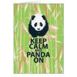 Keep Calm and Panda On Original Design Print Gift Greeting Card