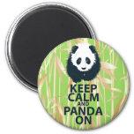 Keep Calm and Panda On Original Design Print Gift Refrigerator Magnets