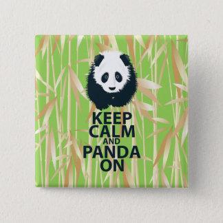 Keep Calm and Panda On Original Design Print Gift Pinback Button