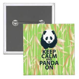 Keep Calm and Panda On Original Design Print Gift Pinback Button