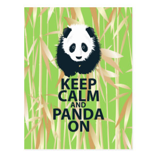 Keep Calm and Panda On Original Design Print Gift Postcard