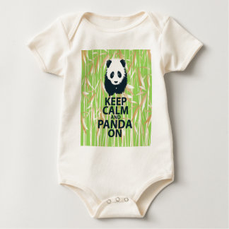 Keep Calm and Panda On Unique Design Print Bamboo Creeper