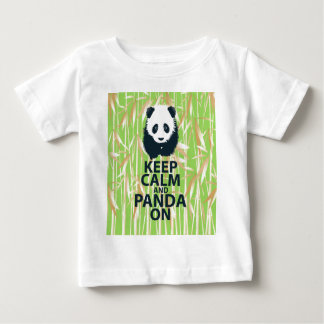 Keep Calm and Panda On Unique Design Print Bamboo T Shirt