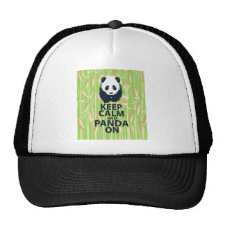 Keep Calm and Panda On Unique Design Print Bamboo Trucker Hat
