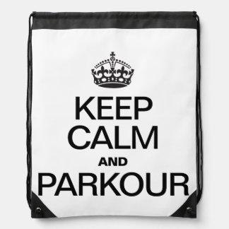 KEEP CALM AND PARKOUR BACKPACKS
