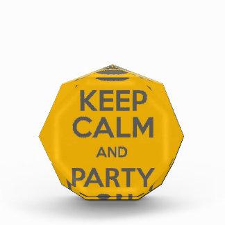 Keep Calm and Party On Acrylic Award