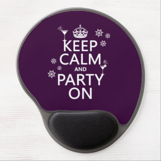 Keep Calm and Party On - all colors Gel Mouse Pads