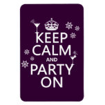 Keep Calm and Party On - all colors Flexible Magnet
