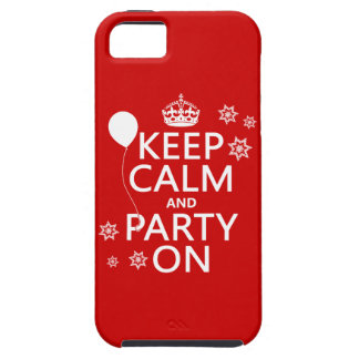 Keep Calm and Party On - all colours iPhone SE/5/5s Case