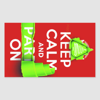 Keep Calm and Party On at Xmas Rectangular Sticker