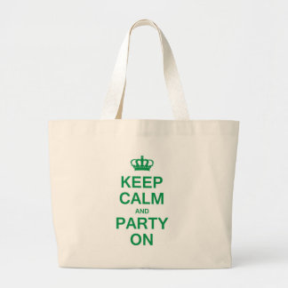 Keep Calm and Party On Canvas Bags