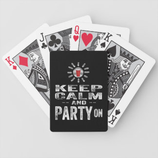 Keep Calm and PARTY on Bicycle Playing Cards