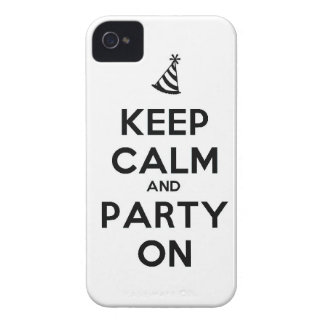 Keep Calm and party on birthday party occasion coo Case-Mate iPhone 4 Case