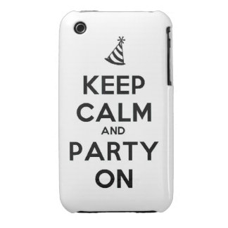 Keep Calm and party on birthday party occasion coo iPhone 3 Cover