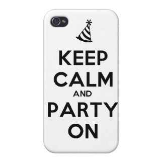 Keep Calm and party on birthday party occasion coo Cases For iPhone 4