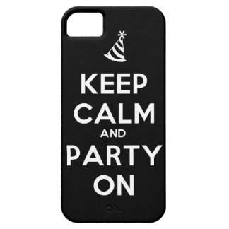 Keep Calm and party on birthday party occasion coo iPhone SE/5/5s Case
