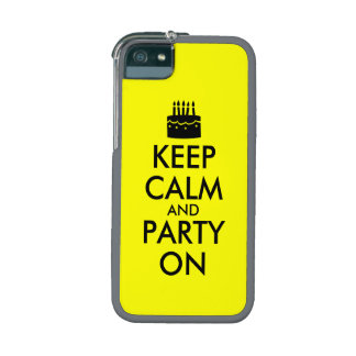 Keep Calm and Party On Cake Customizable iPhone 5 Cases