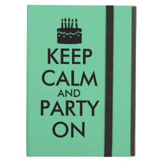 Keep Calm and Party On Cake Customizable iPad Air Cover