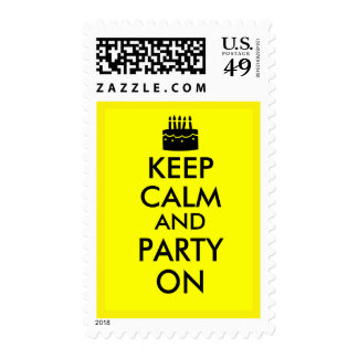 Keep Calm and Party On Cake Customizable Stamp