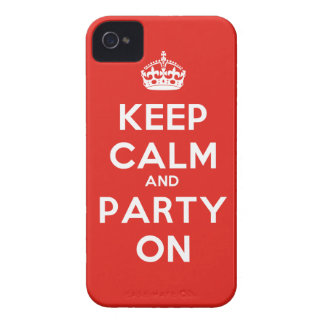 Keep Calm and Party On iPhone 4 Cover