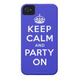 Keep Calm and Party On iPhone 4 Case-Mate Case