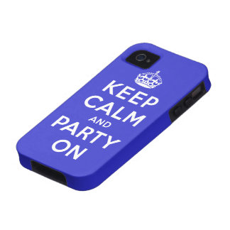 Keep Calm and Party On iPhone 4/4S Covers