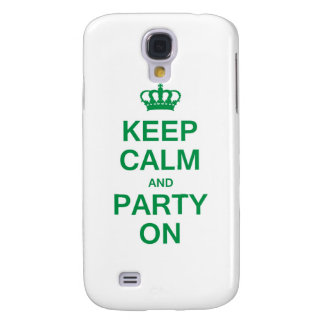 Keep Calm and Party On Samsung Galaxy S4 Cover
