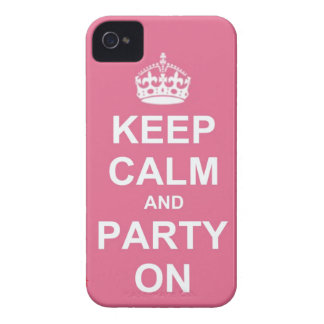 keep calm and party on Case-Mate iPhone 4 cases