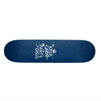 Keep Calm and Party On Christmas Customize color Skate Board Deck