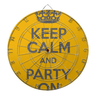Keep Calm and Party On Dartboard