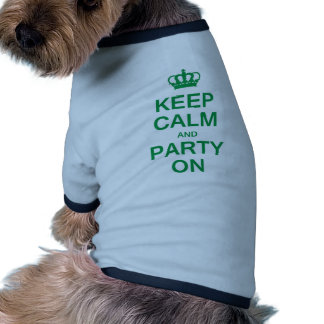 Keep Calm and Party On Doggie Tee Shirt