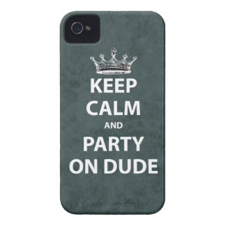 Keep Calm and Party On Dude Blackberry Bold Cover