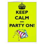 KEEP-CALM-AND-PARTY-ON GREETING CARD