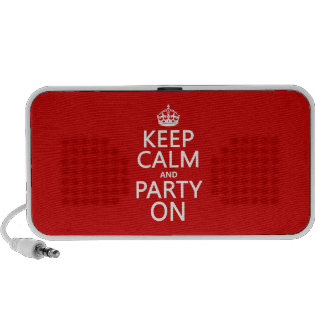 Keep Calm and Party On (in any color) iPhone Speaker