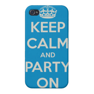 Keep Calm and Party On iPhone case Case For iPhone 4