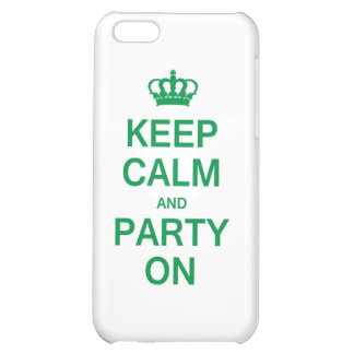 Keep Calm and Party On iPhone 5C Cover
