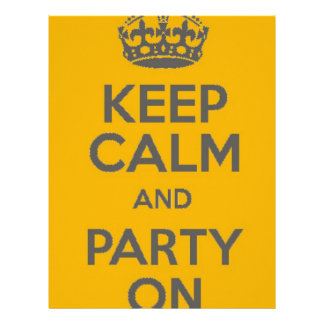 Keep Calm and Party On Letterhead