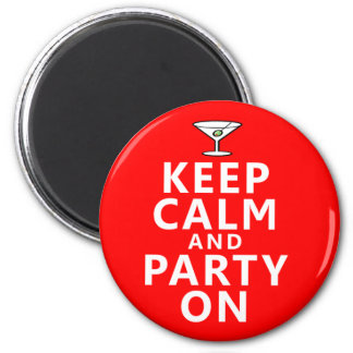 Keep Calm and Party On Fridge Magnets