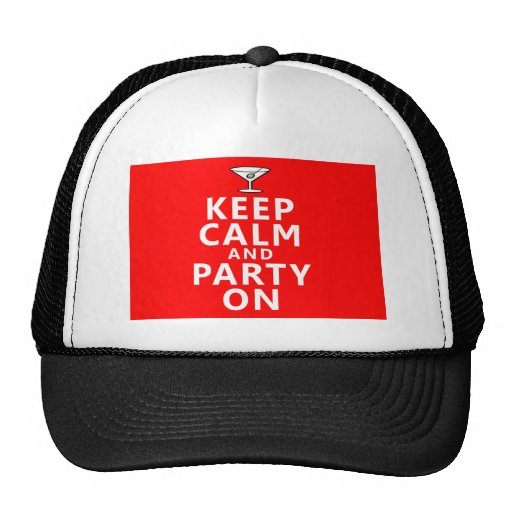 Keep Calm and Party On Mesh Hats