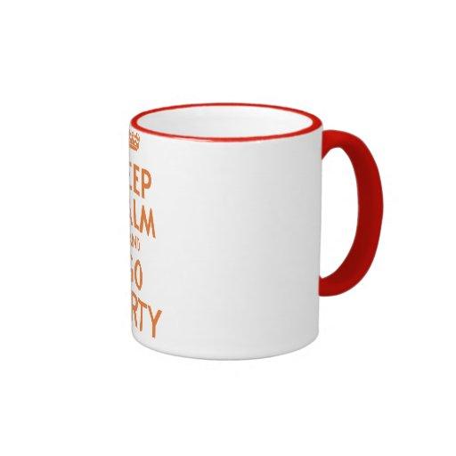 keep calm and party on coffee mug