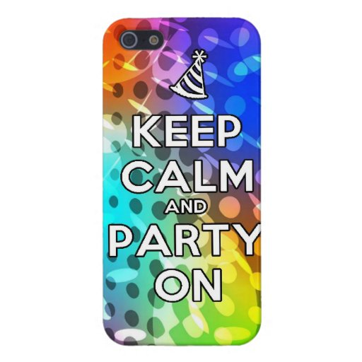 Keep Calm and Party On Parties Drink birthday fun Cover For iPhone 5/5S