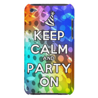 Keep Calm and Party On Parties Drink birthday fun iPod Touch Case