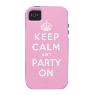 Keep Calm and Party On - Pink Case-Mate iPhone 4 Covers