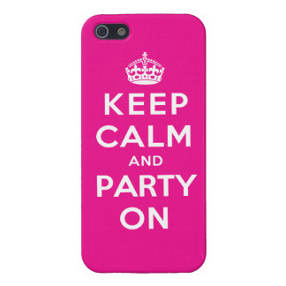 Keep Calm and Party On - Pink Case For iPhone SE/5/5s