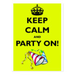 KEEP-CALM-AND-PARTY-ON POSTCARD