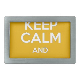 Keep Calm and Party On Rectangular Belt Buckle